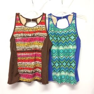 Tropical Escape Womens 14 Tankini Top LOT OF 2
